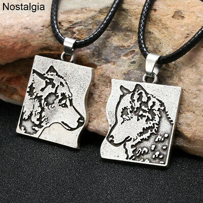 1 Pair Teen Wolf Amulet Couple Love Necklace BFF Gifts For Women Men Best
