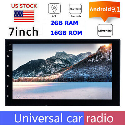 7inch Android 9.1 Indash Car Stereo Radio MP5 GPS Wifi OBD Mirror Link BT 3G/4G