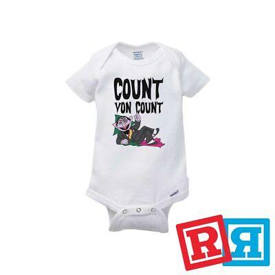 Count Von Count Baby Onesie Sesame Street TV Kids Bodysuit Gerber Organic -