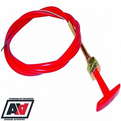 Battery Kill Master Switch T Pull Cable 1.8 Metre Length In Red Sytec ADV