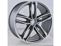 "LATEST NEW 19"" AUDI RS6 ALLOY WHEELS X4 BOXED 5X112 A4 A5 A6 A7 A8 TT Q5 VW PASSAT SCIROCCO"