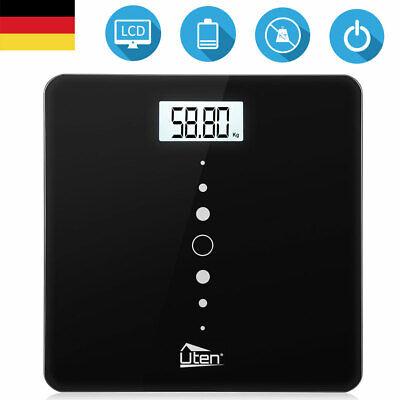 Badezimmer Waage (Digitale Personenwaage mit beleuchtetem LCD Display Waage bis200kg Badwaage Waag)