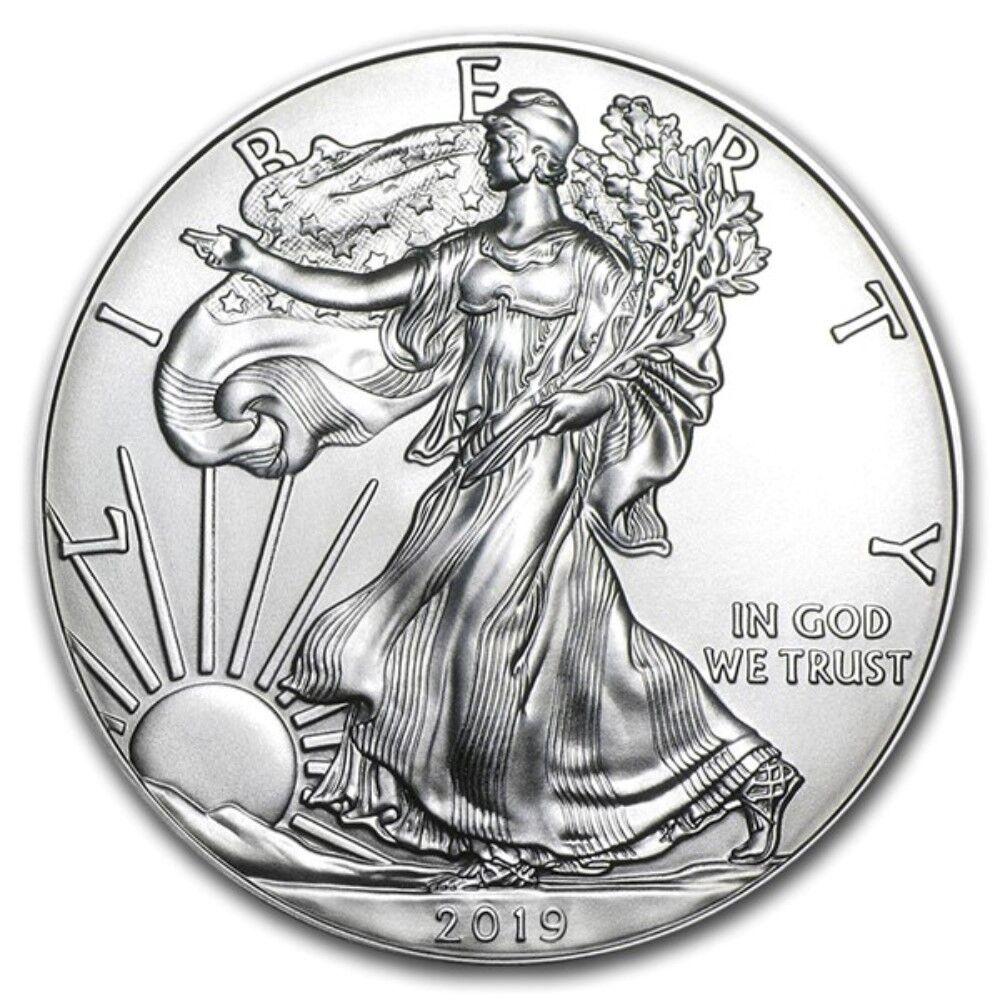 2019 1 oz American Silver Eagle GEM BU $1 Coin 1 Troy Ounce 999 Fine Silver
