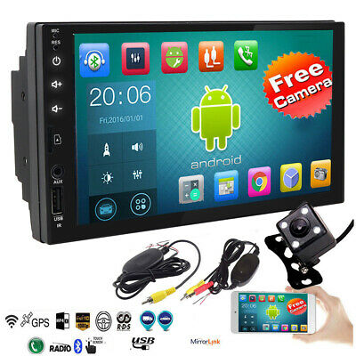 Quad-Core Android 8.1 Double 2Din 1080P HD Touch Car GPS Navigation Stereo Radio