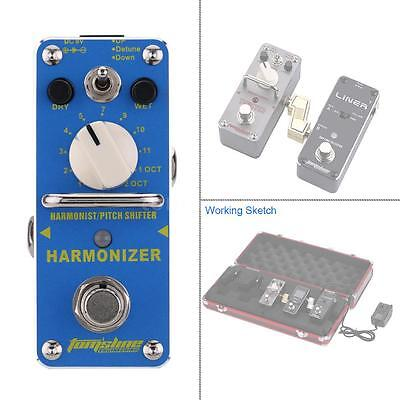 AROMA Harmonizer Harmonist/Pitch Shifter Electric Guitar Effect Pedal K1Y8