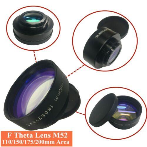 Fiber Laser Machine Scanning Lens 110 150 175 200 300mm Area F-Theta Lens M52