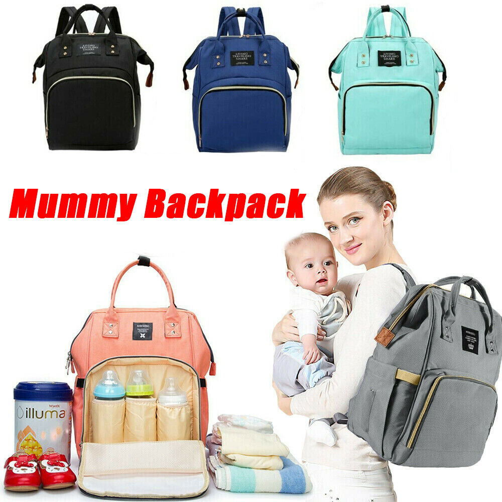 Multi-use Large Mummy Women Baby Diaper Nappy Backpack Mom Changing Travel Bag