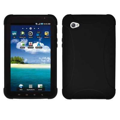 AMZER Black Silicone Soft Skin Jelly Case Cover For Samsung GALAXY Tab GT-P1000 for sale  Shipping to India