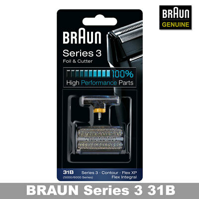 Braun 31B Combi Foil And Cutter Replacement Pack (Formerly 5000/6000) /GENUINE Cutter Combi Pack