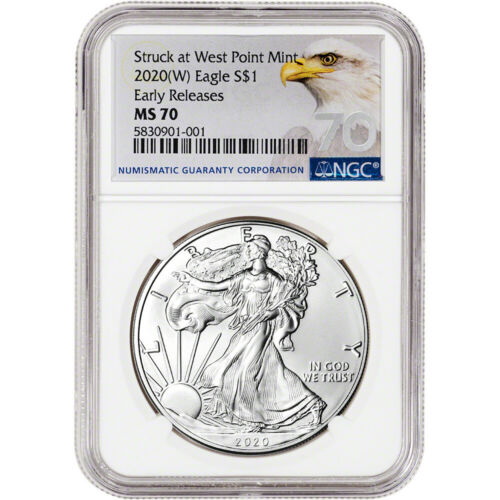 2020-(W) AMERICAN SILVER EAGLE - NGC MS70 - EARLY RELEASES - GRADE 70