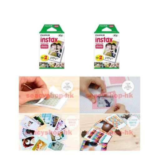 4 Pack Fujifilm Instax Mini Film 40 Pcs Mini 9 8 25 7S 50s 100 SP-1 Instant