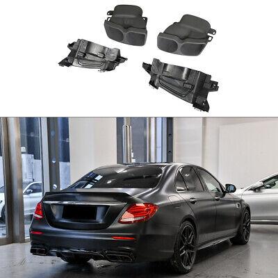 Edelstahl Endrohre Endstücke Auspuffblenden für Mercedes W213 E400 E63AMG 16-19
