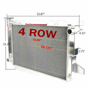4 Row Aluminum Radiator Fits 85-97 Ford Bronco Pickup F150 F250 F350 5.0 5.8 7.5