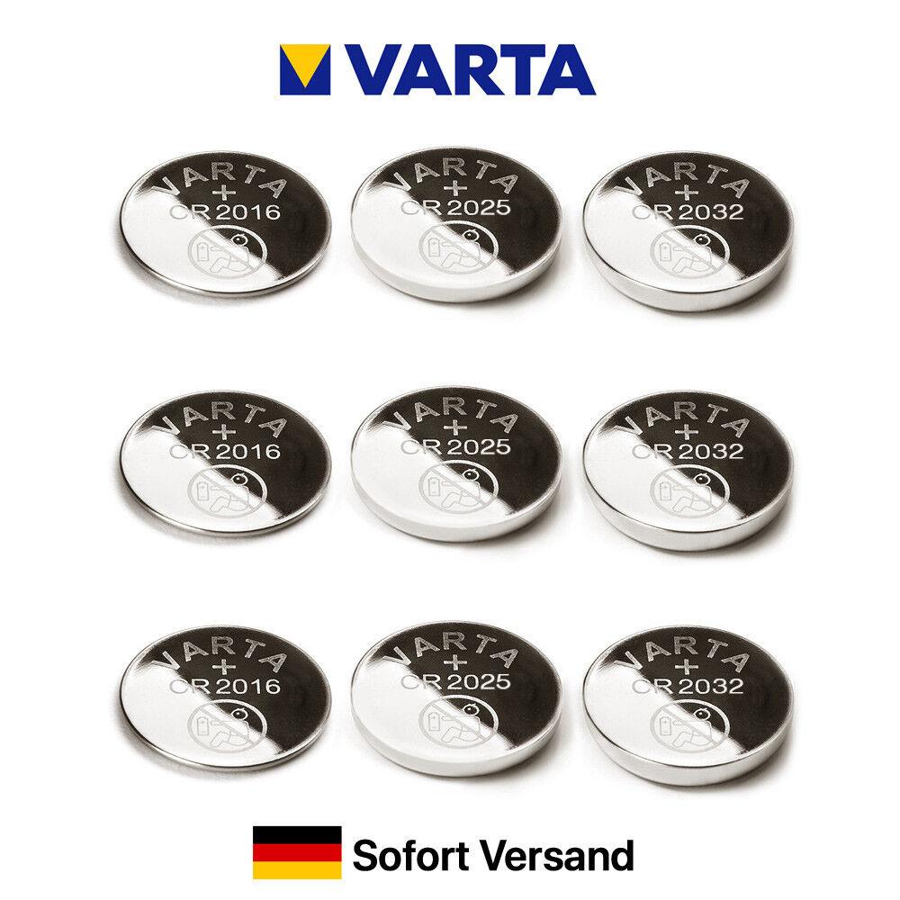 ORIGINAL VARTA CR2016 CR2025 CR2032 Knopfzellen Industrial-Ware MHD bis 2028 --