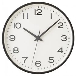 MUJI Analog Clock Large Watch Black Wall mounted Continuous second hand MoMA