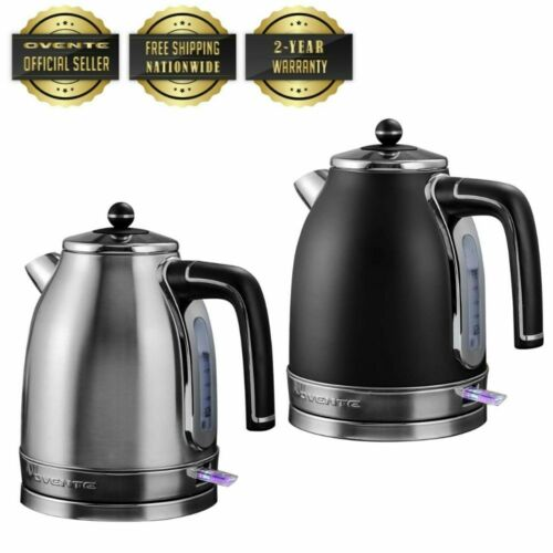 Ovente Electric Stainless Steel Hot Water Kettle 1.7 Liter, KS777 Series