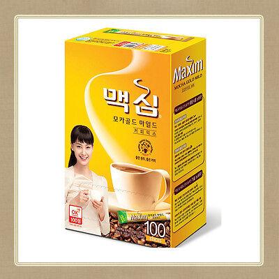 Maxim Mocha Gold Mild Coffee Mix 100 Sticks Instant Korean - same day fast ship!