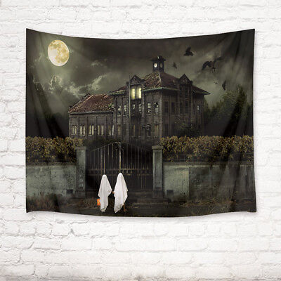 Halloween Villa Night Tapestry Wall Hanging for Living Room Bedroom Dorm Decor](Halloween Dorm Decorations)