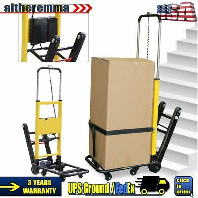 Electric Folding Stair Climbing Hand Truck Cart Dolly 440lb. Max Load Heavy Duty