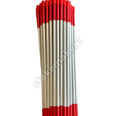 Driveway Markers Snow Stakes 12 Pack of 48 Inch Red Reflective markers