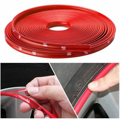 14 Car Rims - Nice Red Car Wheel Rim Edge Protector Ring Tire Guard Sticker Line Rubber Strip