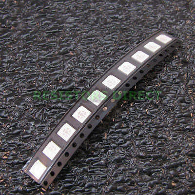 50x Rgb 5050 Smd Led Plcc-6 6pin 3 Chip 5mm Red Green Blue 6 Pin Us Seller Z26