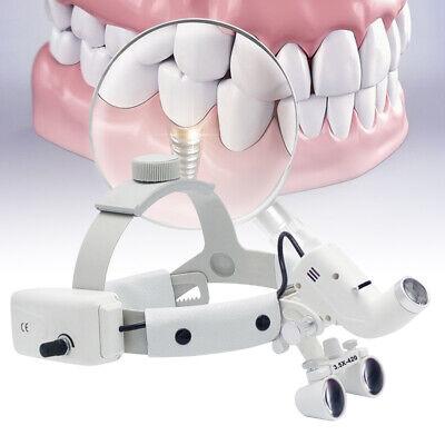 Dental Surgical Magnifying Led Headlight W 3.5x-420mm Binocular Optical Loupes