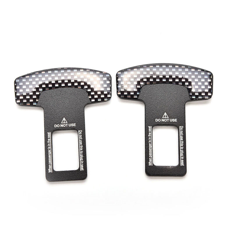 Universal Auto Car Safety Seat Belt Buckle Alarm Stopper Clip Clamp Black New ZY