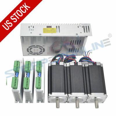 3 Axis Cnc Kit 425oz.in Nema 23 Stepper Motor Stepper Driver Power Supply