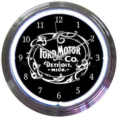 Ford Motor Company Neon Clock - 1903 Heritage - OLP - Sales & Service - Trucks