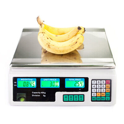 New Digital Weight Scale Price Computing Food Meat Produce Deli Market 88lb