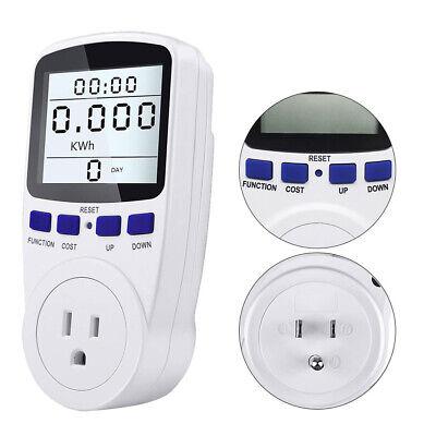Smart Digital Power Monitor Wattmeter Us Plug Voltage Wattage Amp Kwh Cost Meter