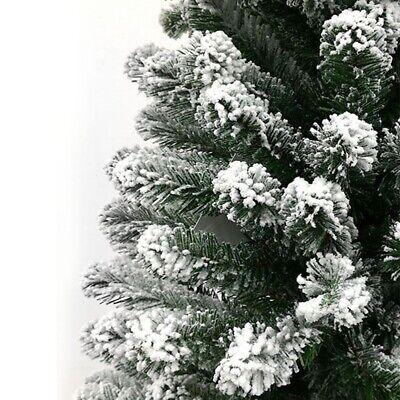 Albero di natale innevato pino bianco slim cm180 finto salvaspazio folto reale