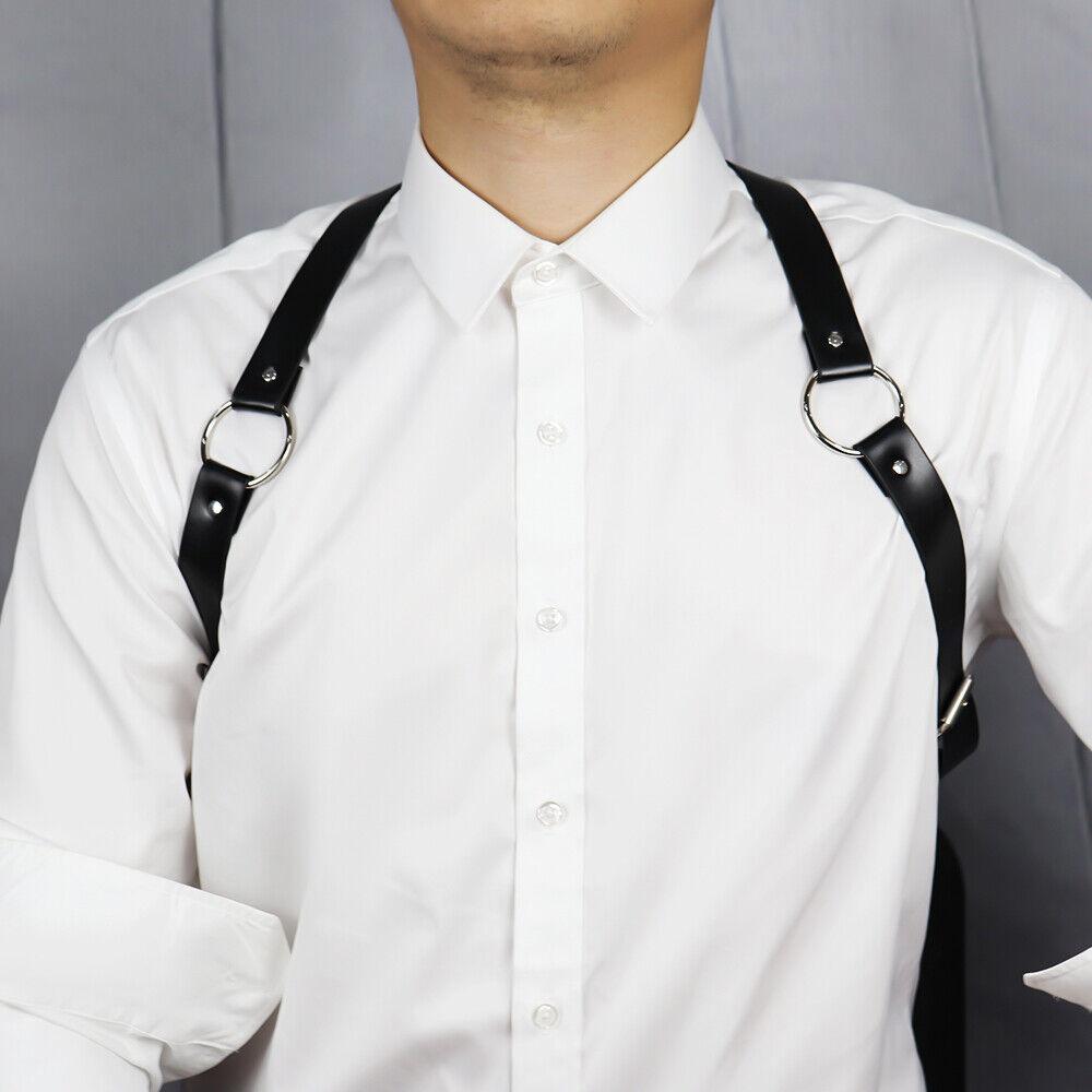 Leather Harness Belts Men BDSM Punk Adjustable Body Type Y Bondage Belt Braces