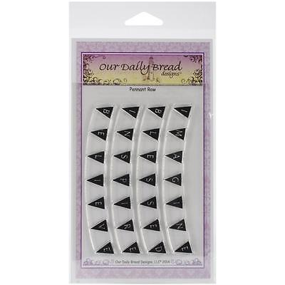 Our Daily Bread Clear Stamps Pennant Row Alphabet   New