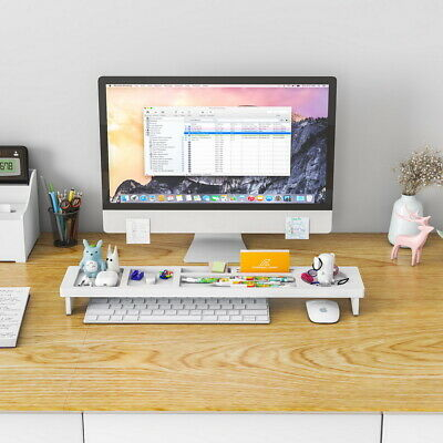 Wood Desk Storage Organizer White Color