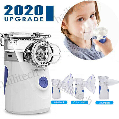Portable Ultrasonic Mini Nebulizer Inhaler Machine Children Adult Kids Handheld segunda mano  Embacar hacia Argentina