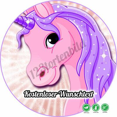 tstag Tortenbild Zuckerbild Einhornpferd (Pferd Geburtstag)