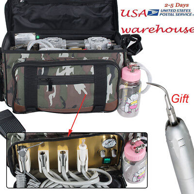 4-hole Dental Delivery Units Dental Turbine Unit Portable Bag Suction Air Sclare