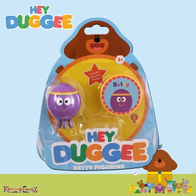 Hey Duggee Squirrel Club Figurine with Feature Badge Betty the Octopus Figure