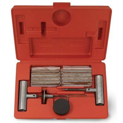 (35 Pieces Tire Repair Tool Kit W/Case Plug Patch New)