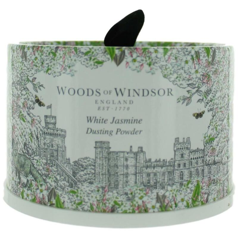 Woods Of Windsor White Jasmine 3.5oz Dusting Powder with Puff women