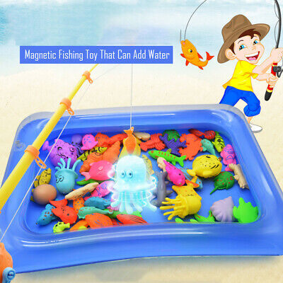 Children Fishing Magnetic Toys Floating Fishing Game Inflatable Swimming Pool - Pond Fishing Games