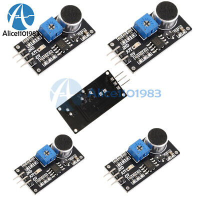 5pcs Sound Detection Sensor Module Sensor Intelligent Vehicle Lm393 For Arduino