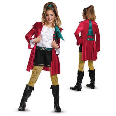 Disney Mädchen Descendants Deluxe CJ Haken Kostüm GRÖSSE S/P 4-6x Verkleidung