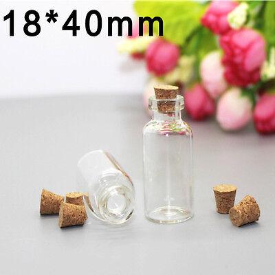 5ml Clear Mini Small Cork Stopper Tiny Glass Vial Jars Containers Bottle Bulk DD - Mini Jars Bulk