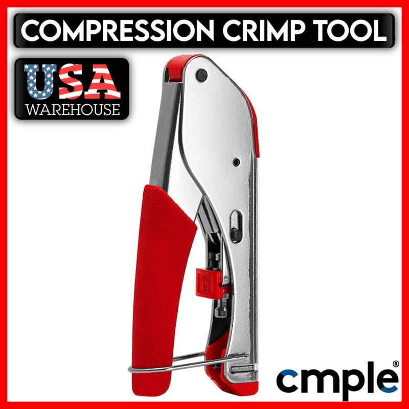 Universal Compression Tool F Type Coaxial Cable Crimper Connector RG59 RG6 CCTV