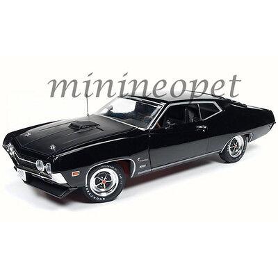 AUTOWORLD AMM1085 1970 FORD TORINO COBRA JET 429 1/18 DIECAST RAVEN BLACK