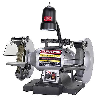 """Craftsman Professional Variable Speed 8"""" Bench Grinder 21162 Brand New No Tax"""