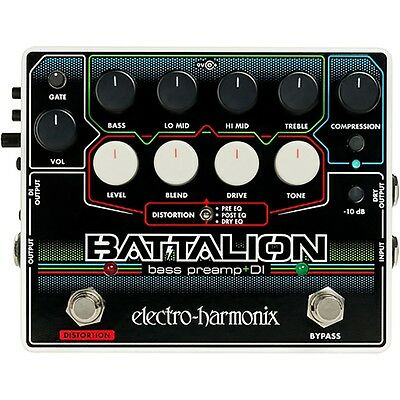 Electro Harmonix Ehx Battalion Bass Guitar Preamp And Di Effects Pedal